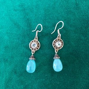 Sterling silver lia Sophia dangly blue  earrings